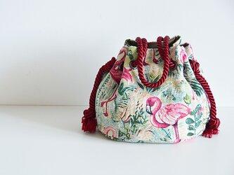 数量限定! フラミンゴ ゴブラン織り  マリンバッグ  の画像