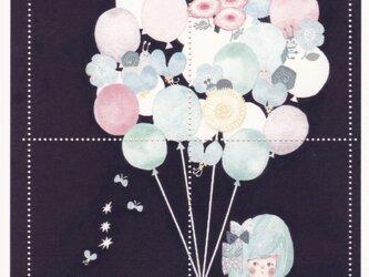 切手風シール「花風船」の画像