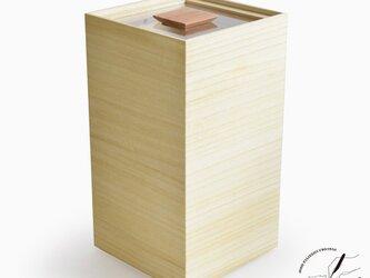 桐の米びつ 10kgの画像