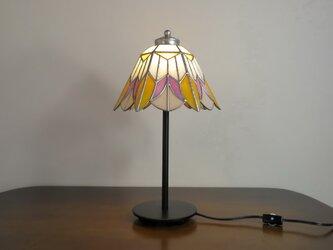 オレンジ・ピンクのお花(ステンドグラスランプ)ガラス照明・  Lサイズ・29の画像