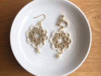 tatting lace earring/pierceの画像
