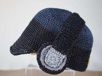 音楽好きトドラー・キッズに♡ ヘッドホン麦わら帽子の画像
