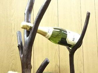 流木ワインホルダーC(2本用)の画像