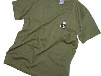パンダ赤青鉛筆 おもしろデザインTシャツ ユニセックスS〜XLサイズ、レディースS〜Lサイズ Tcollectorの画像