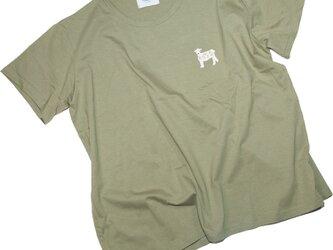 羊クリップ 刺しゅう ビッグシルエットTシャツ レディースフリー Tcollectorの画像
