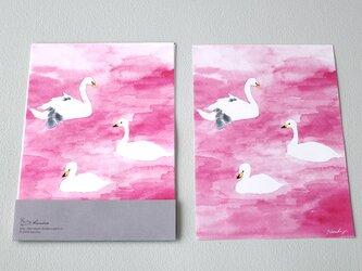 便箋15枚セット ピンクの湖の画像