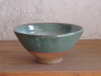 4寸飯碗・緑の画像