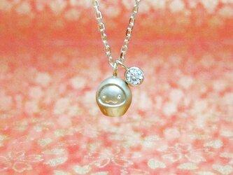 とっても小さな子ダルマとダイヤ0.1ctのK18YGペンダント < KODARUMA【子達磨(こだるま)】>の画像