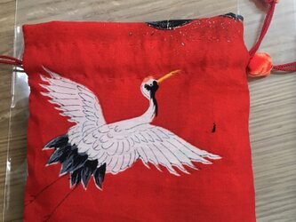 巾着 赤色 七五三着物の画像