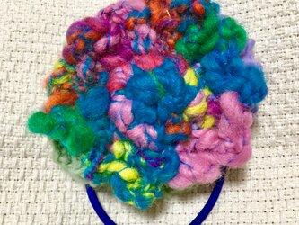オリジナルデザイン 【手紡ぎ糸(KAPI糸さん)ヘアゴムの販売です✨】③の画像