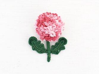 flower brooch A - 段染めピンクの画像