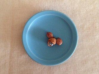 リム小皿(トルコブルーマット)の画像