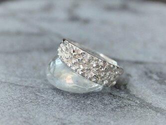 細氷ダイヤモンドダストsilver925リングの画像