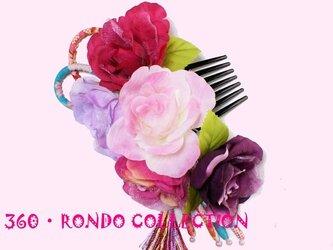 【SALE価格】髪飾りセット★「薔薇の花束」の画像