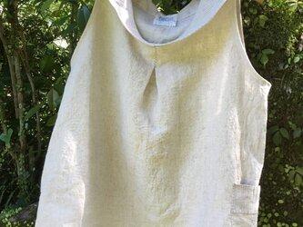 麻の衿付きタックブラウスHL-12の画像