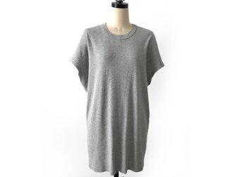 日本製オーガニックコットン 形にこだわった オーバーサイズチュニックTシャツ【色展開有り】の画像