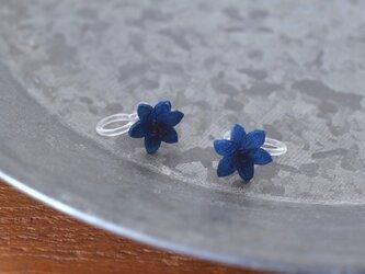 藍染花(雄しべ有)イヤリングの画像