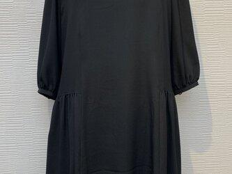 ワンピース (着物リメイク)(黒)(フォーマルワンピース)の画像