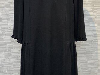 ワンピース (着物リメイク)(黒)の画像