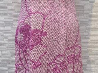 ドレス(着物リメイク)(片袖ショルダー)(絞り)の画像