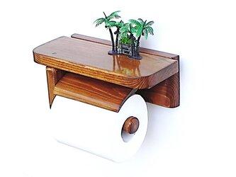 木製トイレットペーパーホルダーVer.5S(オーク)の画像