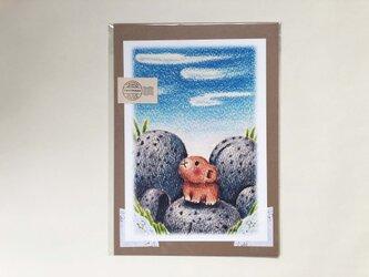 ナキウサギと十勝石 ポスターno.183の画像