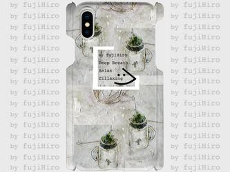 ツヤ有り側表面印刷スマホケース   green teaの画像