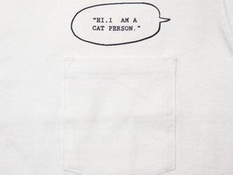 私は猫派。I'm a Cat person. ポケットTシャツ ユニセックスS〜XLサイズ Tcollectorの画像