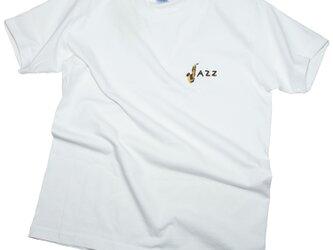 JAZZ刺しゅう ポケット Tシャツ ユニセックスXS〜XXLサイズ Tcollectorの画像