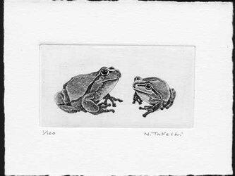 二匹の蛙/ 銅版画(作品のみ)の画像