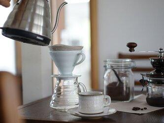 【円錐形】リネン コーヒー フィルター ドリップ 珈琲/ 亜麻ナチュラル【 1~4人用】z002eの画像