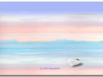 「洗いざらしのココロに会いたくて」 ほっこり癒しのイラストポストカード2枚組   No.764の画像