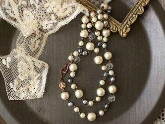 フランスの留め具がお洒落! ミリアムハスケル他 バロックパールとドイツビーズのネックレスの画像
