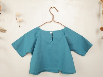 90cm : コットン五分袖Tシャツ (インク)for boy and girlの画像