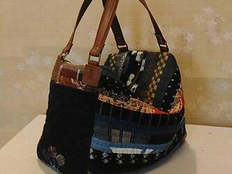 №173 ストリングキルトのポケットバッグの画像