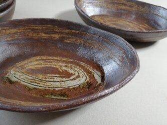 うずまき舟形皿の画像