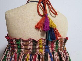 4wayリバーシブルギャザースカート(キッズフリーサイズ)の画像