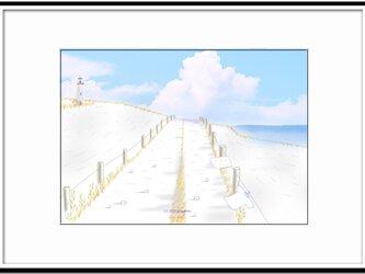 「南風をください」 ほっこり癒しのイラストA4サイズポスターNo.661の画像