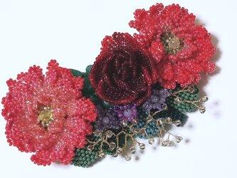 バレッタ Bouquet  (レッドガーベラ)の画像