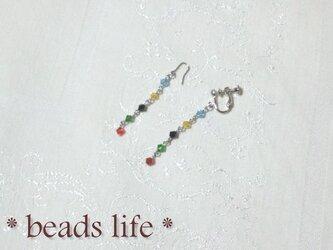 NO783◇オリンピックカラーSWのイヤリングorピアスの画像