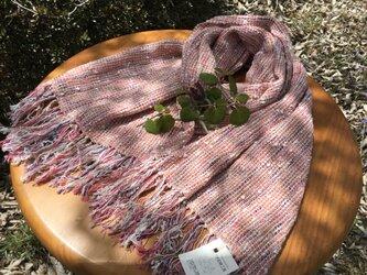 手紡ぎ和綿を使った自然素材のストールの画像