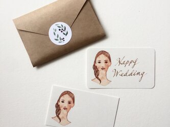 人物画のメッセージカード サンキューカード 20枚の画像