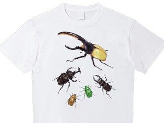 受注プリント全3色☆Tシャツ「虫達の集会」オリジナルデザイン☆子供から大人まで全サイズ対応の画像