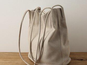 綿麻 トートバッグ 多色オプション レディースの画像