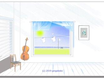 「風の通り道」 ほっこり癒しのイラストポストカード2枚組   No.765の画像