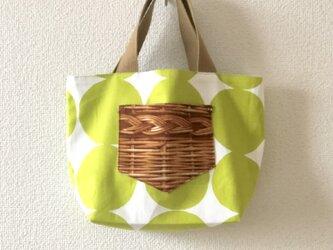 新作★reversible mini tote bag【dot】の画像