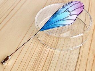 蝶の片羽ハットピンの画像