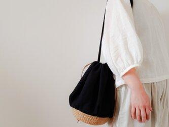 Drawstring bag Linen【受注制作】の画像