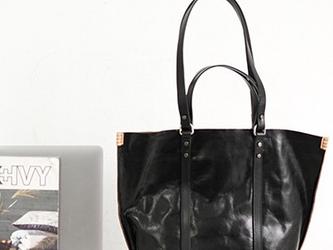 新デザイン ショルダーバッグ本牛革 斜めがけバッグ レジャーバッグ/ハンドバッグ  流れ トートバッグの画像