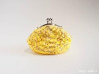 ビーズ編みがま口【メイプル】の画像